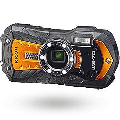 RICOH WG-70 オレンジ リコー本格防水デジタルカメラ 14m防水 (連続2時間) 1.6m耐衝撃 防塵 -10℃耐寒 アウトドアで活躍するタフネスボディ CALSモード搭載で 現場記録など幅広いビジネスシーンで活躍 03871