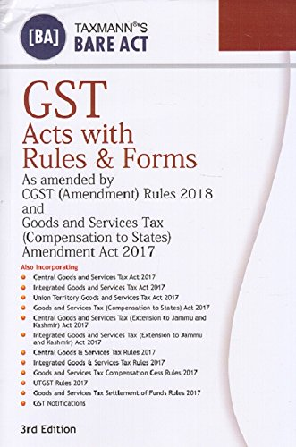 Taxmann's GST Acts with Rules & Forms