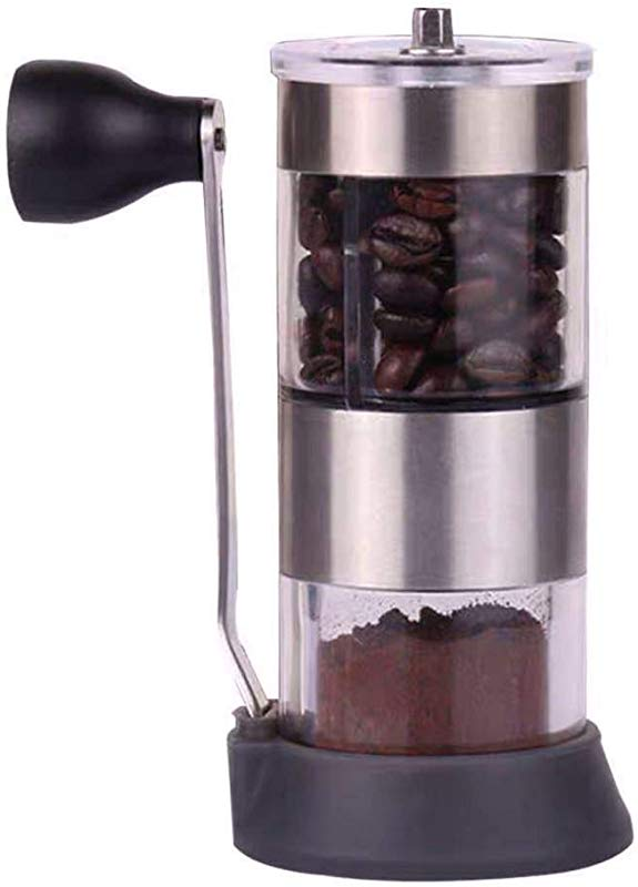 Sweet Dream New Upgrade Manual Coffee Grinder Adjustable Stainless Steel For Travel Conical Burr Mill Brushed Stainless Steel French Press Excellent Quality