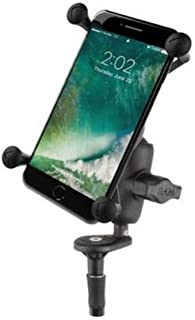 RAM Fork Stem Mount with Short Double Socket Arm & Universal X-Grip Large Cradle for Plus Sized Phones