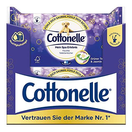 Cottonelle feuchtes Toilettenpapier Mein SPA Grüner Tee & Jasmin, 12 x 44 Tücher