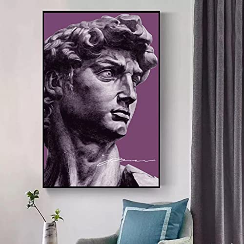 Quadri decorativi David Gesso Statua Arte Scultura Tela Stampa Pittura Soggiorno Astratta Immagine...