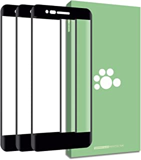 LG Aristo 2 Tempered Glass Screen Protector-(3 Pack)Clear Anti-glare Ultra-thin 9H Full Coverage Silk Print Protective Film Black For LG K8 2018 / Aristo 2 LM-X210M / SP200 Tribute Dynasty / LV3 2018/