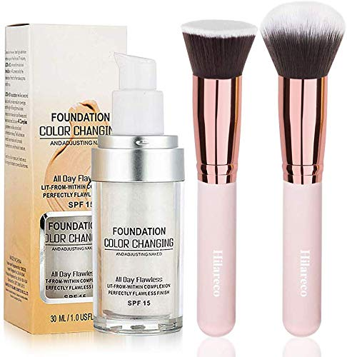 Foundation Color Changing,Concealer Cover, 30ml Concealer -Abdeckung Flawless Farbwechsel Warmer Hautton Foundation