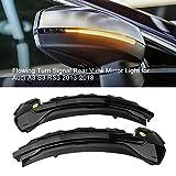 2 indicadores LED dinámicos de luz de giro, espejo retrovisor lateral para A3 S3 RS3 8V 2013-2019