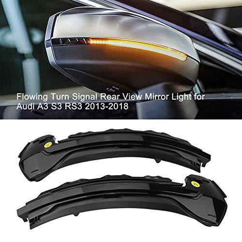 Ein Paar LED Dynamisch Blinker Spiegeln Leuchtanzeige Ersatz für A-UDI A3 S3 RS3 8V 2013-2019 (Black Shell)