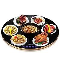 回転可能な円形の食品断熱ボード断熱テーブルヒーターサーモスタット断熱パッド予定タイミングダブルインテリジェンス