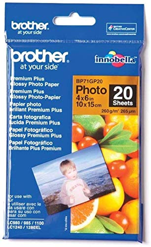 Brother BP71GP20 Fotopapier A6 20BL 260g/qm für MFC-6490CW DCP-375CW 6890CDW