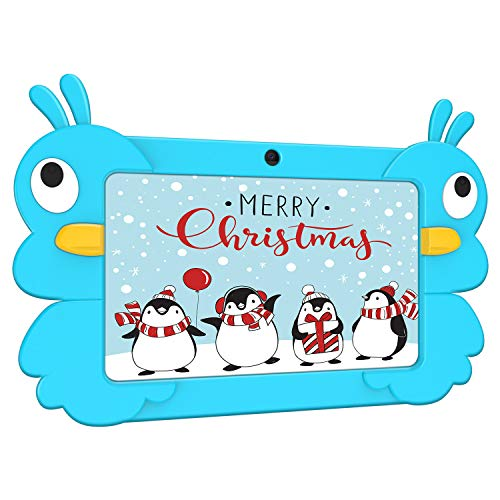 Kids Tablet, 7 Inch Android 9.0 GMS Tablet for Kids, 2GB+16GB Dual Camera Childrens Tablet with WiFi, Parental Control, Kid-Proof, Blue