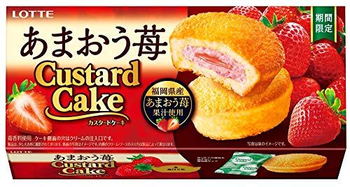 ロッテ カスタードケーキ(あまおう苺) 1箱(6個) ×5個