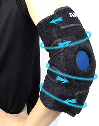 ARRIS Elbow Ice Pack Wrap Gel Pack with Elbow Support Wrap for Hot Cold Therapy Reusable Wearable product image