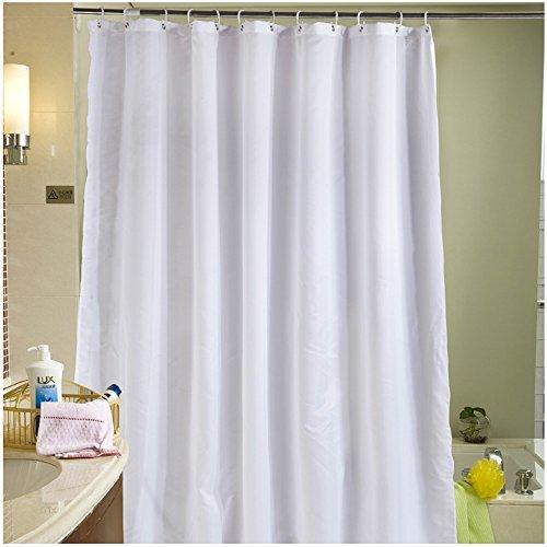 S-ZONE Reines Weiß Drucken Duschvorhang verdicken Anti-Schimmel Textilien Polyester Wasserabweisend 180x180 cm mit 12 Vorhangringe