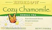 Bigelow Tea - ハーブティーすべて天然カフェイン無料居心地の良いカモミール - 1ティーバッグ