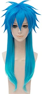 NiceLisa Halloween Party Cosplay Wig Long Gradient Blue Boy Male Anime Comic Costume Wig