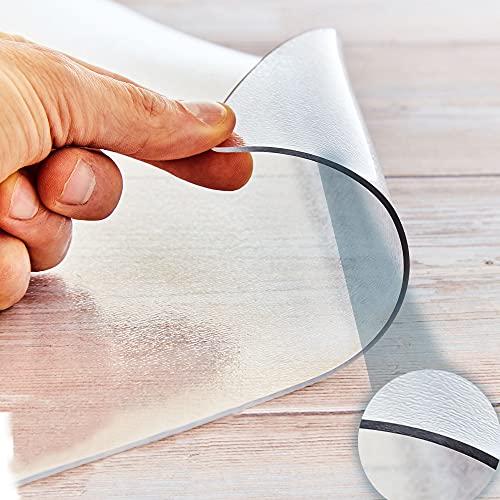 MAXXUS Bodenschutzmatte transparent 130 x 80 cm, für Fitnessgeräte, Grills, zum Schutz des Bodens