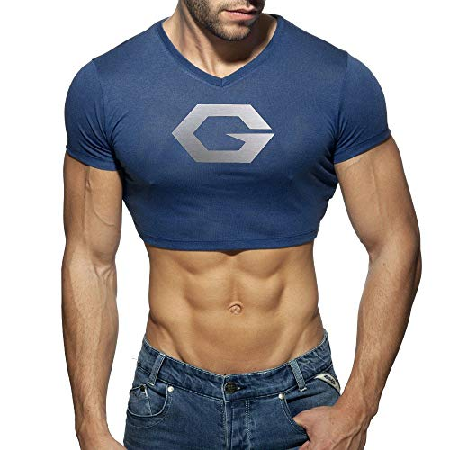 HOSD Camiseta de Hombre Chaleco Deportivo de algodón Traje de Yoga Absorbente...