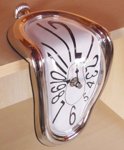 """Kantenuhr \""""Dali\"""" Uhr Regaluhr Designuhr 18 cm"""