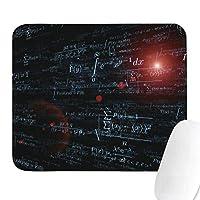 ユニセックスマン数学方程式物理学科学白シンプルマウスパッド音楽記号学用品宇宙飛行士