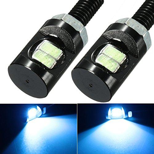 Viviance 2 stuks DC 12 V LED kentekenplaat-schroef Eagle lamp voor auto motorfiets blauw