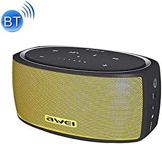 Wireless Buletooth Stereo Speaker Y210 Portable Wireless Bluetooth Speaker V4.2 with Enhanced Bass, Support NFC/TF Card/AUX(Black) (Color : Yellow)