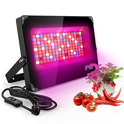 Olafus Grow Light 1000W, Lampada per Piante Coltivazione Spettro Completo di Luci 144 LEDs con 92 Rossi 22 Blu 4 IR 4 UV 22 Bianco, IP66 Impermeabile Accelerare Crescita Fioritura Fruttificazione…