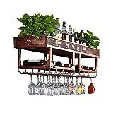 LILY-Botelleros American Industrial Loft Wine Rack Rack de Vino Creativo...