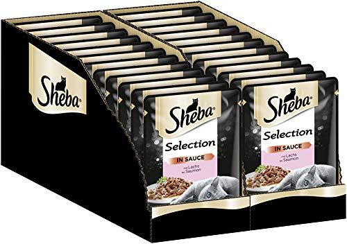 Sheba Katzenfutter Nassfutter Selection in Sauce mit Lachs, 24 Beutel (24 x 85 g)
