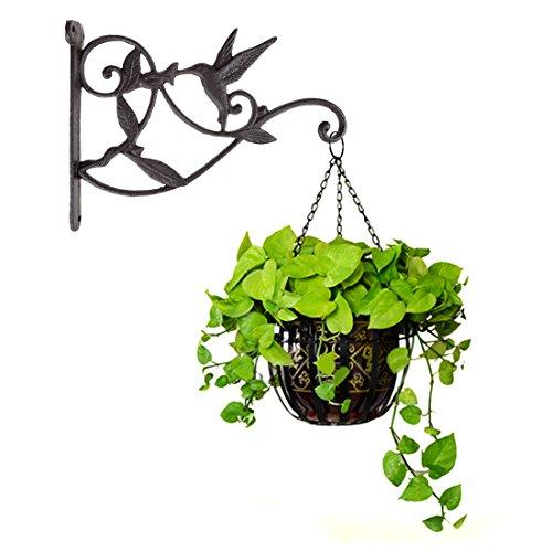 DEWEL Plant Hanging Hook Hummingbird Cast Iron Decorative Flower Basket...