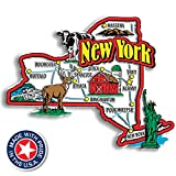 New York State Jumbo Map Magnet