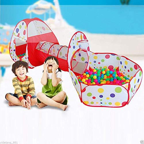 Ejoyous Spielzelt Kinderzelt Babyzelt Kinderspielzelt Bällebad Pop Up Spielzelt Spielzelt Kinderzelt Babyzelt mit krabbeltunnel Bällebad Spielhaus für Zuhause & im Garten Mehrweg