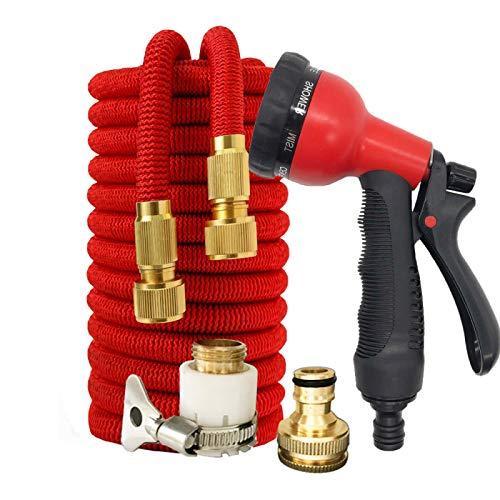 Gartenschlauch Flexibler Schlauch Stretch Expandable Magic Schlauch Für Autowäsche Stretch Gartenschlauch Rohr Expandable 75Ft Rot