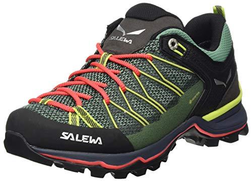 Salewa WS Mountain Trainer Lite Gore-Tex, Trekking-& Wanderstiefel Mujer, Verde (Feld Green/Fluo Coral 5585), 36.5 EU