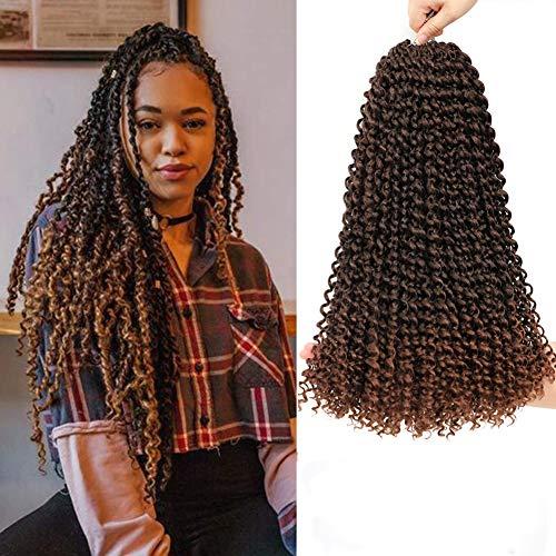 Passion Twists, 18 Zoll 7 Packungen Water Wave Crochet Braids, Passion Twist Crochet Hair, Haarverlängerungen Passion Twist Braiding Hair (T30)