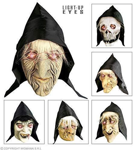 Masker met capuchon, heldere ogen en haren, met capuchon, oogmaskers en panelen voor maskerade, kostuumaccessoires.