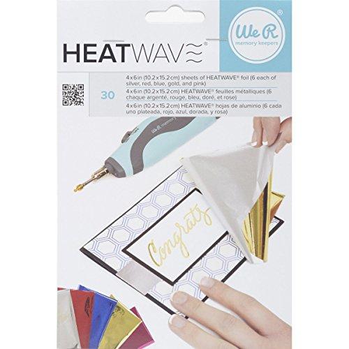 WE R Memory Keepers American Crafts 30-teiliges Heatwave Pen Folie, 4x 6, multicolor