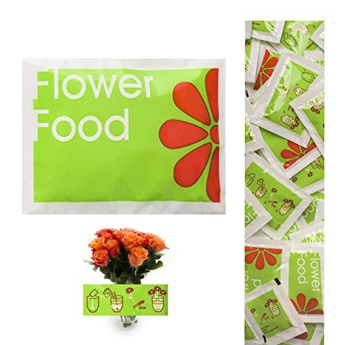 100 Tüten Blumenfrisch Flower Food - Schnittblumenfrisch für lange haltbare und frische Blumen - Blumendünger - a Beutel für 0,5L Wasser für schne und haltbare Blumensträusse und Schnittblumen