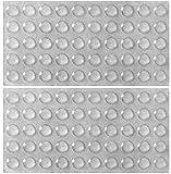 x100 Soft Close Cupboard Door Buffer Rubber FEET Pads Adhesive Bumper Cushion 10mm