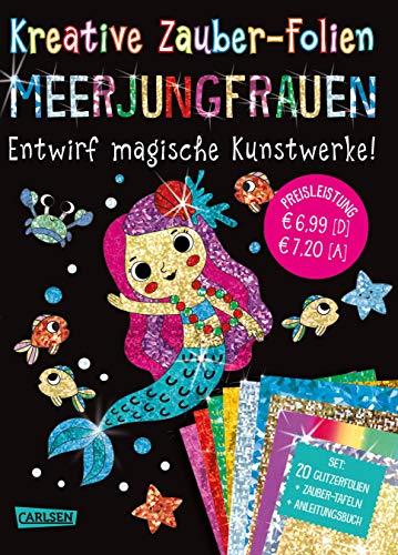 Kreative Zauber-Folien: Meerjungfrauen: Set mit 10 Zaubertafeln, 20 Folien und Anleitungsbuch: Kinderbeschäftigung ab 5