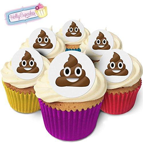 24 Wunderschöne essbare Kuchendekorationen: Poop Emoji / Poo Emoji