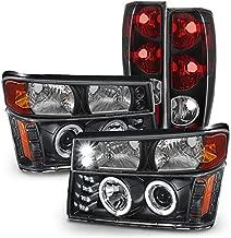 For 2004-2012 Chevy Colorado | 2004-2012 GMC Canyon Black Head Lights + Bumper Lights + Tail Lights Set