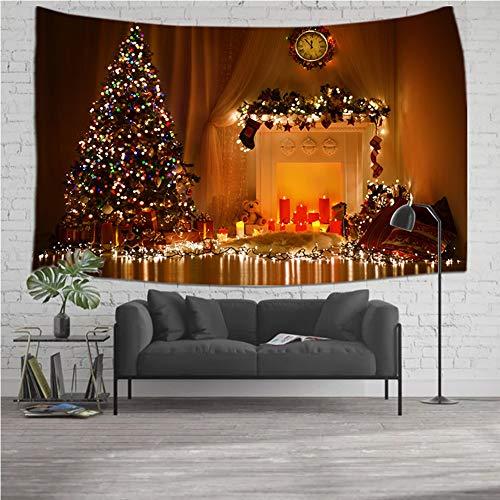 YMFZYM Home Wandopknoping Natuur Stof Tapestry-Kerst Dorm Kamer,Slaapkamer Decoraties, Rode Boot Open haard