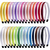 Duufin 30 Haarreif mit Zähnen Bunt Haarreifen Stirnbänder für Mädchen und Damen, 30 Farben
