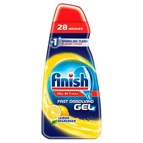 Finish Dishwasher Fast Dissolving Gel All in 1 Max Lemon, 700 ml, Pack of...