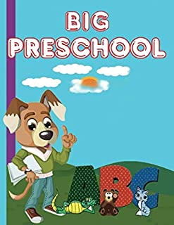 BIG PRESCHOOL: wipe clean workbook tracing numbers letters and shapes-telling time-matching-dot to dot-scissor cutting ski...