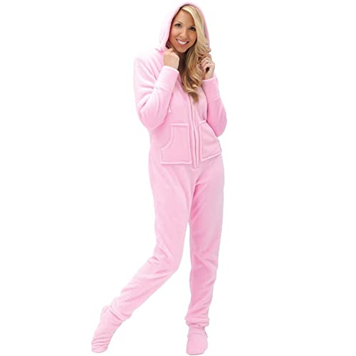 f4f48265ad Alexander Del Rossa Womens Fleece Solid Colored Onesie