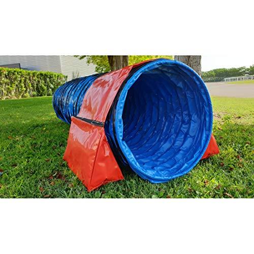 Agility Chien - Agility Obstacle - Parcours Agility - Agility pour Chien - Entrainement Animaux - Sport Chien - Dressage Chiot - Sac De Lestage À Zip avec Bande Velcro Bleu
