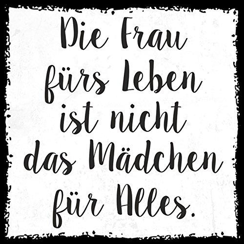 how about tee? - Frau für's Leben ist nicht das Mädchen für alles. - Design by SeelenSchwester - stylischer Kühlschrank Magnet mit lustigem Spruch-Motiv - zur Dekoration oder als Geschenk