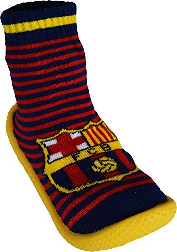 Socken, rutschfest, Barca–offizielle Kollektion FC Barcelona–Kindergröße Jungen Für 3- bis 4-Jährige blau