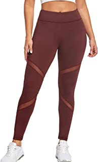 Joyshaper Yoga Legging with Pockets for Women Workout Pants Mesh Running Tights for Sports Daily Wearing Gym
