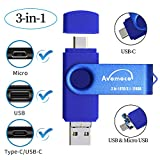 Avomoco 3.1 128GB 3 in 1 High Speed Flash Drive...
